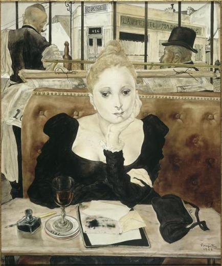 The Cafe, Tsuguharu Foujita (1949)