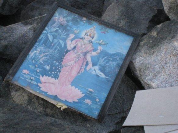 goddess on the rocks