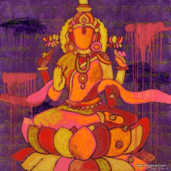 technicolor lakshmi, sonja picard. www.sonjapicard.com
