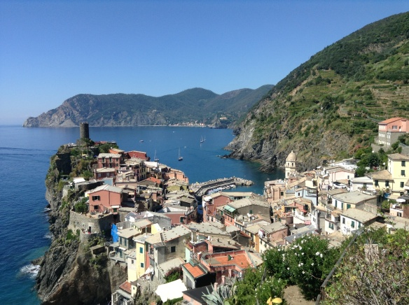 view of corniglia, cinque terre, on my hike