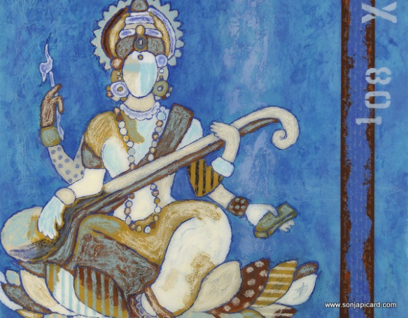 Blue Saraswati, by the amazing Sonja Picard