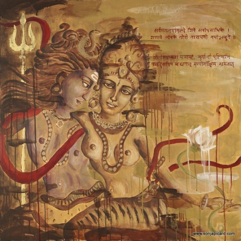 shiva and shakti, by my amazing friend sonja picard. http://www.sonjapicard.com