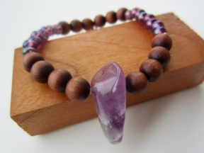 chocolate & amethyst