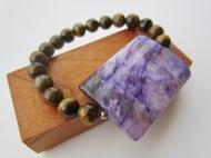 tiger eye purple gemstone