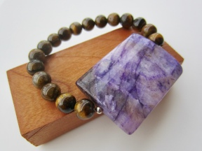 tiger eye purple gemstone