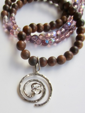 sandalwood & lilac glass with spiral