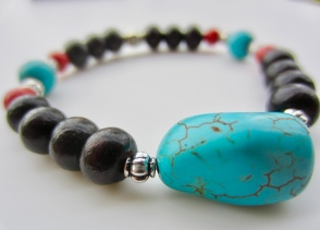 turquoise & ebony