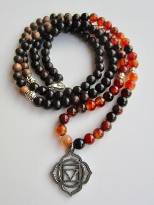 obsidian & tiger ebony root chakra charm