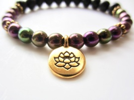Gold Lotus Charm
