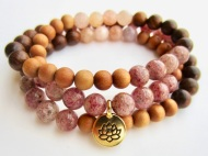 morganite lotus wrap bracelet